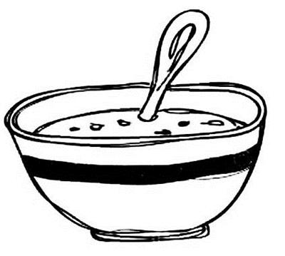 一碗饺子简笔画可爱